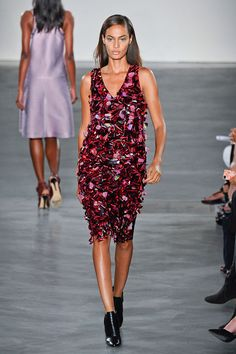 As a finale, he took those plastic 3D paillettes and reworked them as a dress, which didn't feel as effortless as the preceding separates. Imaxtree  - HarpersBAZAAR.com