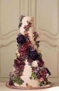 Wedding cake idea; Featured Cake: Nadia & Co #purpleweddingcakes #weddingideas
