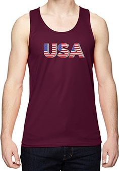 63af73fb5cb75b Support the USA while wearing our mens patriotic tank top.A mens dry  wicking tank