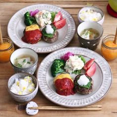 ワンプレート ランチ5 Caprese Salad, Cobb Salad, Asian Recipes, Ethnic Recipes, Food Decoration, Japanese Food, Cake Recipes, Food And Drink, Cooking Recipes