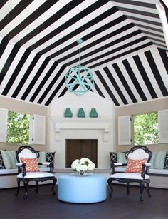 I wanted to create a graphic POW for this outdoor cabana. What do you think? Design by Tobi Fairley | tobifairley.com