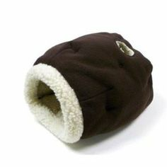 Precision Pet Cat Cave Cat Bed In Chocolatesheepskin  ♥ Available at BuyDogSweaters.com