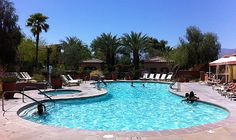 "Another sunny April morning by the The ""Quiet Pool"" at the Marriott Shadow Ridge Resort in Palm Desert, California."