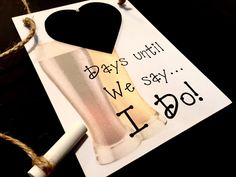 """Engagement gift. Bridal Shower gift """"Days Until..We Say I Do!"""" (Beer Glasses) Wedding Countdown sign, Fiancé Gift! by CountdownChalkboards on Etsy"""