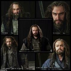 Richard Armitage US The evolving look of Thorin..Thankfully getting it right (middle)