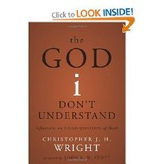 This is one of the most humble and thought provoking books I've ever read.  If we are honest, we have to admit that there are many things we don't understand about God, and that is okay!