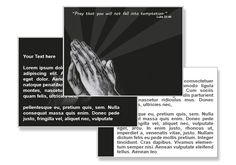 Pray to resist temptation PowerPoint Templates