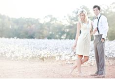 A Dreamy Engagement Session in a Cotton Field: Ali + Blakely