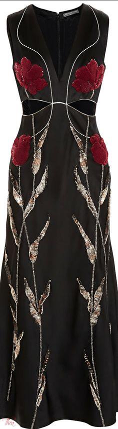 Alexander McQueen ● 2014, Black Satin-crepe Dress