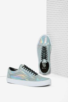 Vans Old Skool Leather Sneaker - Irridescent | Shop Shoes at Nasty Gal!