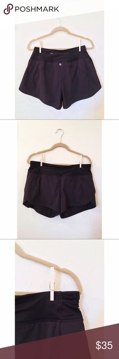 Lululemon Shorts Amazingly comfortable, you won't want to take these off! Small interior pocket on waistband, and small zipper pocket on back. Great condition! lululemon athletica Shorts