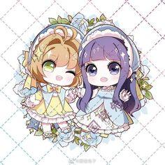 Sakura & TomoyoYou can find Cardcaptor sakura and more on our website. Anime Girl Neko, Anime Chibi, Anime Manga, Anime Art, Syaoran, Cardcaptor Sakura, Kawaii Art, Kawaii Anime, Card Captor