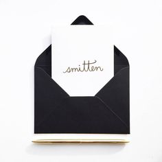 Couples looking for ways to surprise their partner on their wedding day should write them a loving note in this beautiful 'Smitten' card from Sonni & Blush Paper Co.
