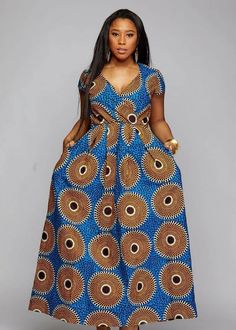 African maxi dress with pockets, African print dress,African clothing for women,Ankara dress,african Ankara Long Gown Styles, Latest African Fashion Dresses, African Dresses For Women, African Print Dresses, African Print Fashion, African Attire, African Women, Africa Fashion, Ankara Styles