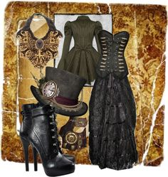 """my steam punk"" by linda-schultz-schafer ❤ liked on Polyvore"