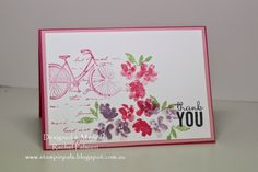 Stampin' Pals: Floral Bicycle Thanks - SSC99