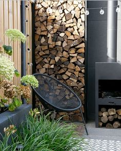 53 Ideas Exterior Wood Accents Modern For 2019 Outdoor Rooms, Outdoor Living, Outdoor Decor, Fire Pit Patio, Fire Pits, Garden Seating, Backyard Projects, Exterior Lighting, Exterior Design