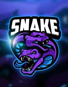 Snake 4 - Mascot & Esport Logo by aqrstudio on Envato Elements Game Logo Design, Esports Logo, Animal Logo, Logo Images, Photoshop, Cool Logo, Logo Design Inspiration, Art Logo, Logo Templates