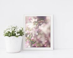 Rumi Quote Print - Rumi Poetry Art - Gift for Her - Love Quote - Magnolia Print - Pink Floral Photo - Literature Print - Large Wall Art
