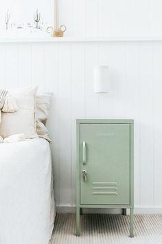 Sage Green Bedroom, Green Rooms, Sage Green Walls, Bedside Storage, Sage Color, Colour, Bedroom Color Schemes, My New Room, Adjustable Shelving