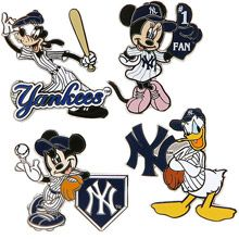 i need this.  New York Yankees Disney 4 Piece Pin Set by Aminco International