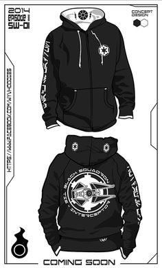 Tie-Interceptor hoodie concept. Buy the real hoodie today @ www.etsy.com/... #StarWars