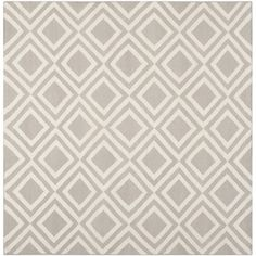 Safavieh Handwoven Contemporary Moroccan Reversible Dhurrie Grey Wool Rug 6 Square By Gray And Squares