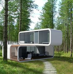 The Slovenian company, Coodo, is devoted to designing contemporary forms of dwellings to suit contemporary life style