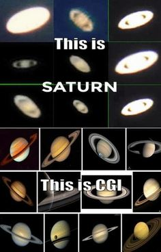 "Real Saturn Photos vs NASA's CGI Saturn: Our ""Planets"" we see are moving lights, not solid matter"