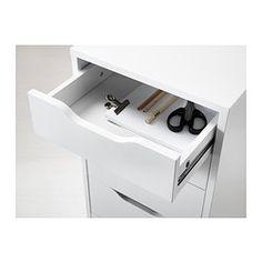 IKEA - ALEX, Schubladenelement, 9 Schubladen, , Hohes Element mit vielen Schubladen für viel Stauraum auf kleiner Bodenfläche.Ausziehsperre verhindert, dass die Schubladen komplett herausgezogen werden.