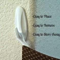 3M command Hooks for fabric baby gate