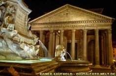 "Pantheon - Rome by night (from <a href=""http://digitalfoto-welt.de/picture.php?/68/category/4"">Rainer Kaufhold - digitalfoto-welt.de - digital photo world</a>)"