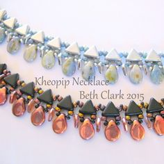This listing is for a tutorial on how to make the Khoepip Necklace. Included are step by step instructions with figures on how to make this necklace. The pattern calls for Kheops, Pips, size 11 seed b