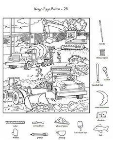 숨은그림찾기 (Under Construction) Worksheets For Kids, Craft Activities For Kids, Classroom Activities, Crafts For Kids, Hidden Picture Games, Hidden Picture Puzzles, Hidden Object Puzzles, Hidden Objects, Hidden Pictures Printables