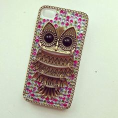 Colorful owl phone case Owl Phone Cases, Iphone Cases, Call Me Maybe, Cute Cases, Colorful Owl, Phones, Bling, Owls, Electronics