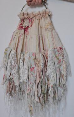 Faerie organic form wedding bag  shabby chic  by faithadelaide, $150.00
