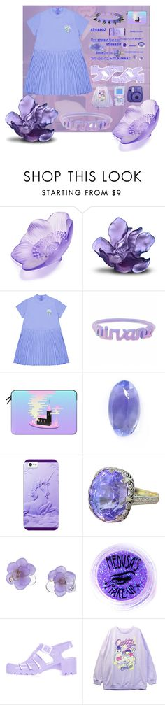 """NIRVANA"" by anna-pensky ❤ liked on Polyvore featuring Lalique, Daum, Casetify, Loquet, Chanel, Lime Crime, Medusa's Makeup and Topshop"