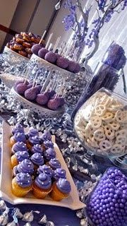 So pretty purple food and decor