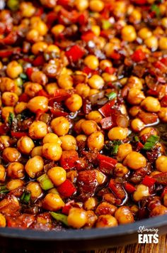 Chinese 5 spice Chickpeas - the perfect quick and easy recipe for anyone looking for a meat-free Chinese Fakeaway meal. Gluten free, dairy free, vegan, Slimming World and Weight Watcher friendly Slimming World Vegetarian Recipes, Vegetarian Chinese Recipes, Vegan Slimming World, Slimming Eats, Chickpea Recipes, Vegetable Recipes, Asian Recipes, Healthy Recipes, Vegetarian Meals