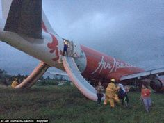 Escape:Local journalist Jet Damazo-Santos was on board the plane and uploaded photographs...