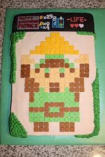 Legend of Zelda 8-Bit bacon cake.  A real man's cake. I'm pretty sure Graham would have a heart attack.