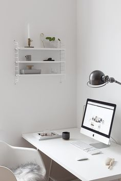 String pocket in my office - by Coco Lapine Design