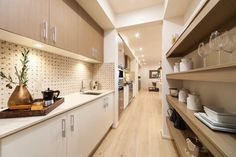 Now butler's pantries are making their way into most homeowners' lists for their family homes. So what is a butler's pantry and where did it come from? Kitchen Butlers Pantry, Butler Pantry, Kitchen Storage, Kitchen Cabinets, Cupboards, Kitchen Styling, The Block Kitchen, New Kitchen, Kitchen Dining