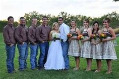 JEANS... cute idea for a country wedding theme
