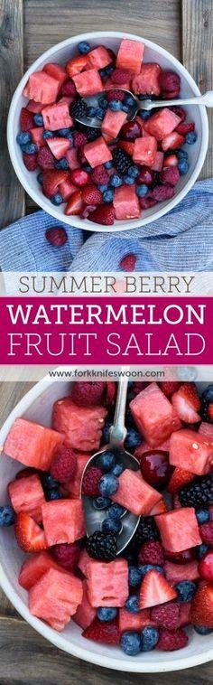 Berry Watermelon Fruit Salad
