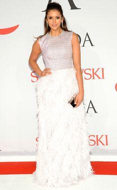 Nina Dobrev from 2015 CFDA Fashion Awards: Red Carpet Arrivals | E! Online