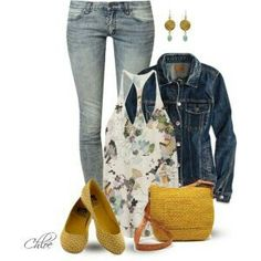 Phillip Lim tops, American Eagle Outfitters and Cheap Monday jeans Comfortable Outfits, Casual Outfits, Fashion Outfits, Womens Fashion, Pretty Outfits, Cute Outfits, Pretty Clothes, Mustard Shoes, Spring Summer Fashion