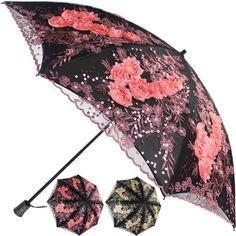 Black Ribbed Pagoda umbrella Windproof Sunproof Travel Unisex Colourful Brolly for long Handle Creative Pagoda Stick Parasol Vintage Bridal Wedding Party Sun Rain UV Rain parasol