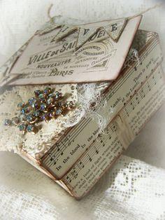 Vintage Paris Shabby White Box~