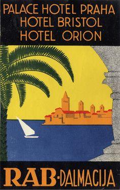 Rab • Yugoslavia (Now Croatia) _________________________ #Vintage #Travel #Poster